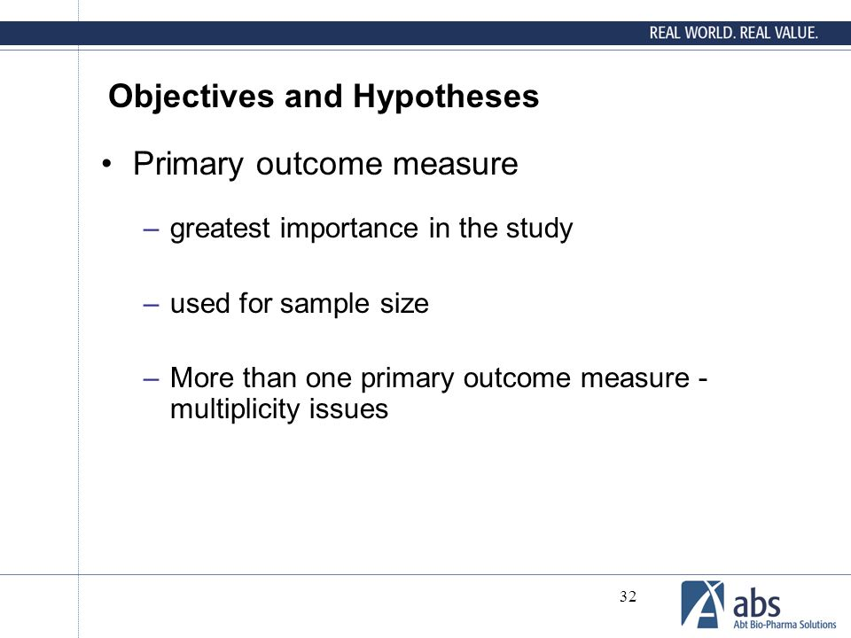 Objectives and Hypotheses