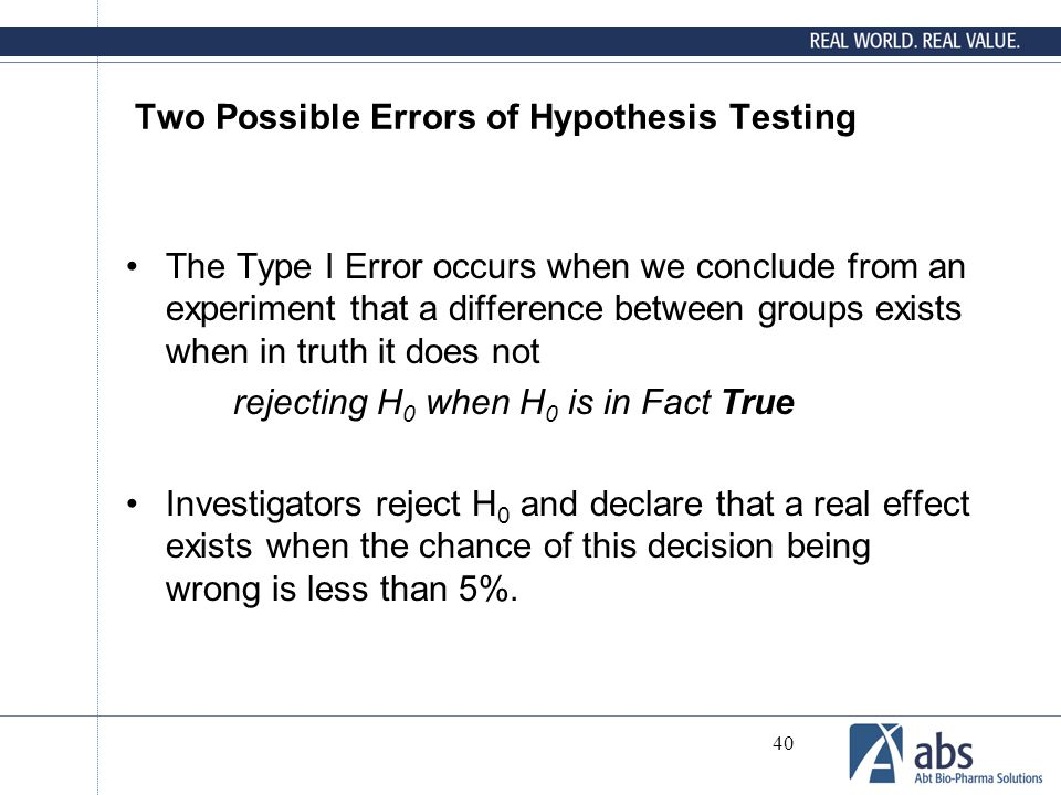 Two Possible Errors of Hypothesis Testing
