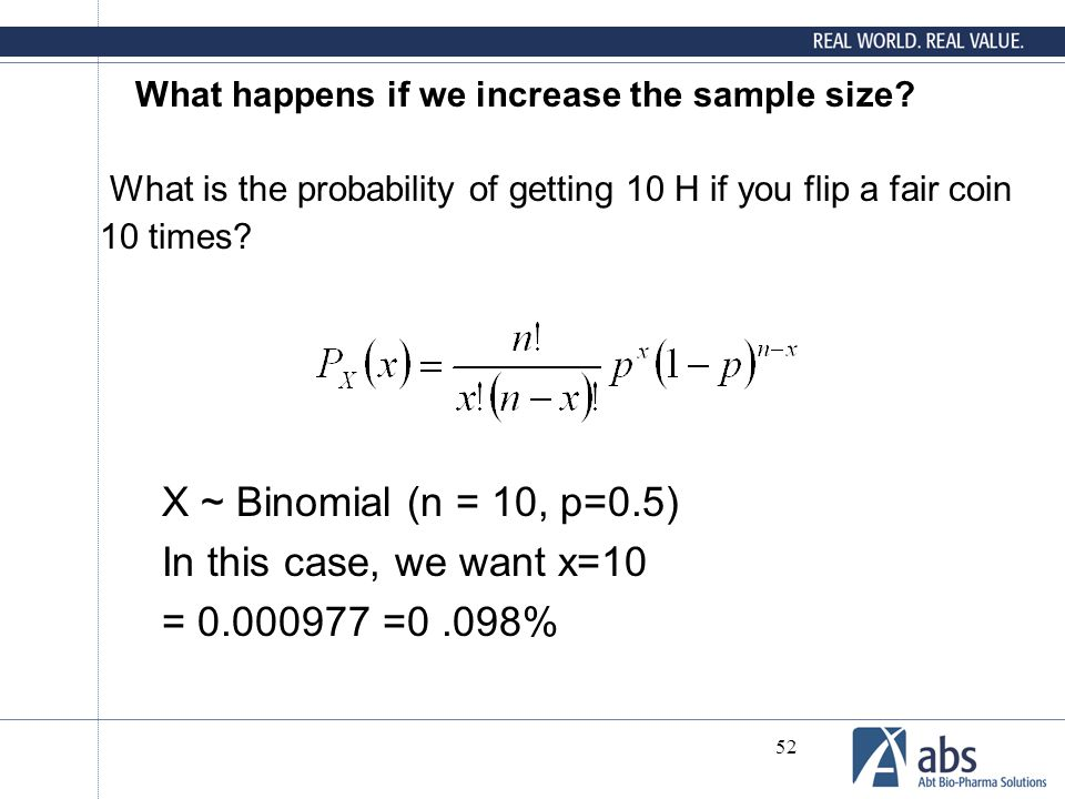 What happens if we increase the sample size