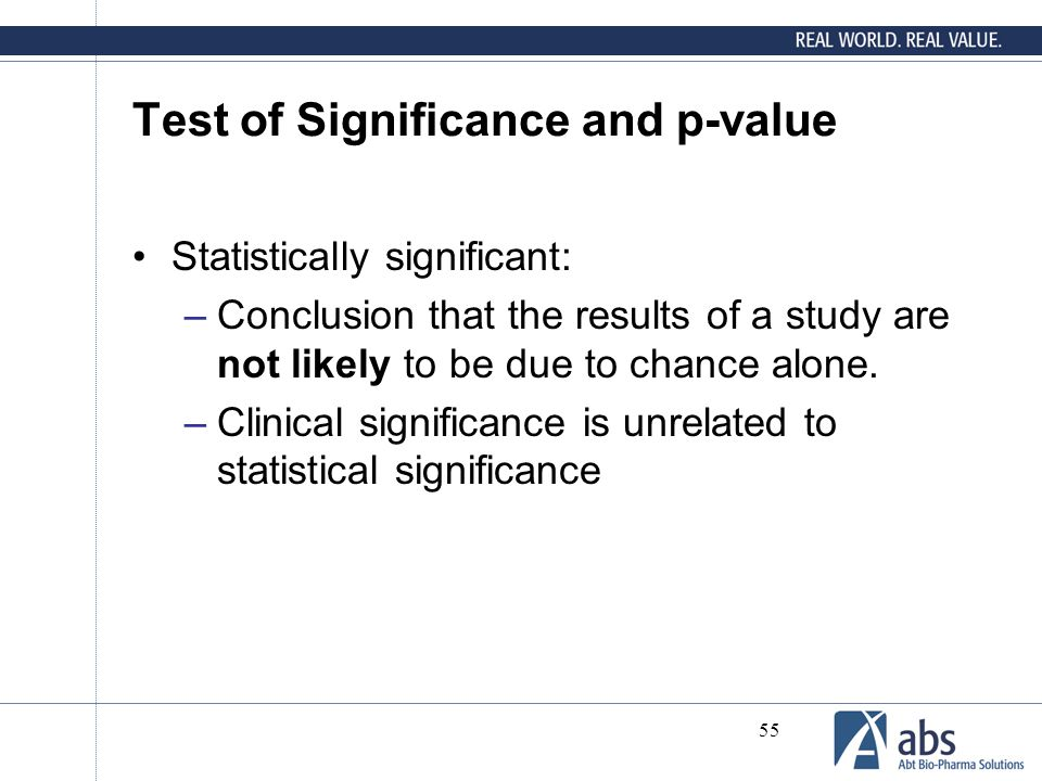 Test of Significance and p-value