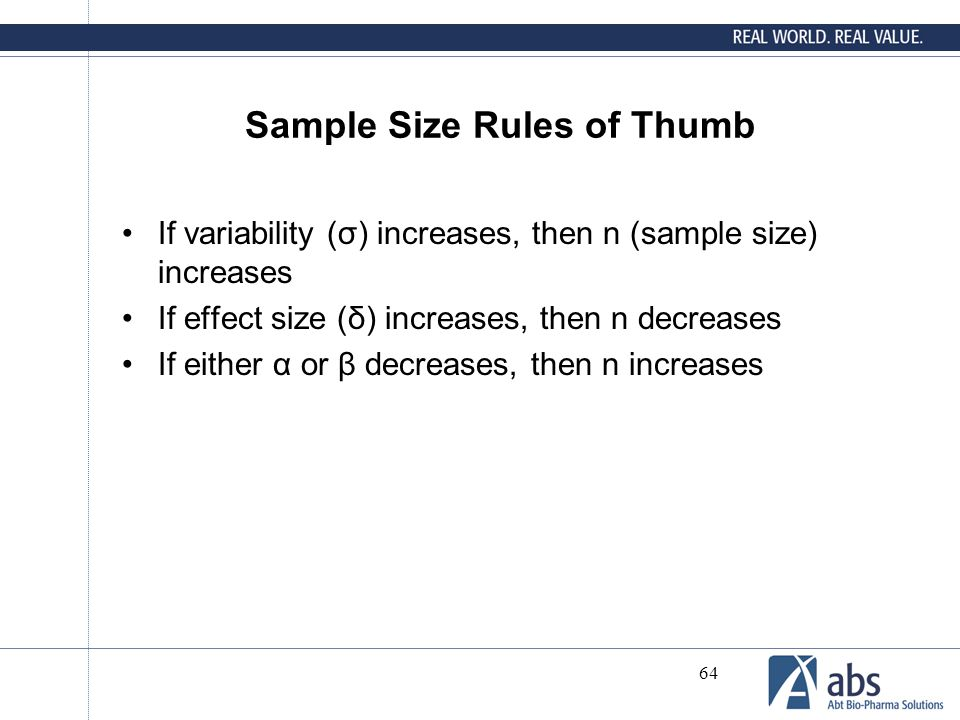 Sample Size Rules of Thumb