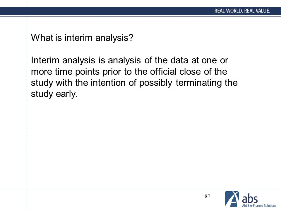 What is interim analysis