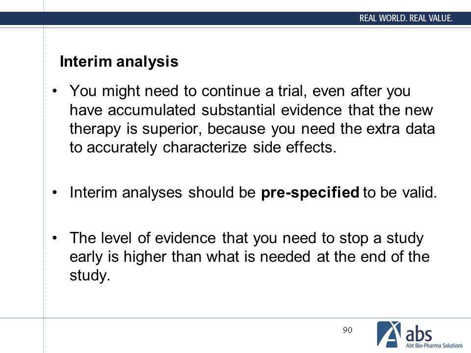 Interim analysis