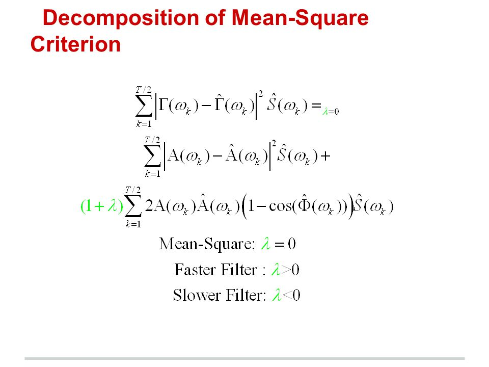 Decomposition of Mean-Square Criterion