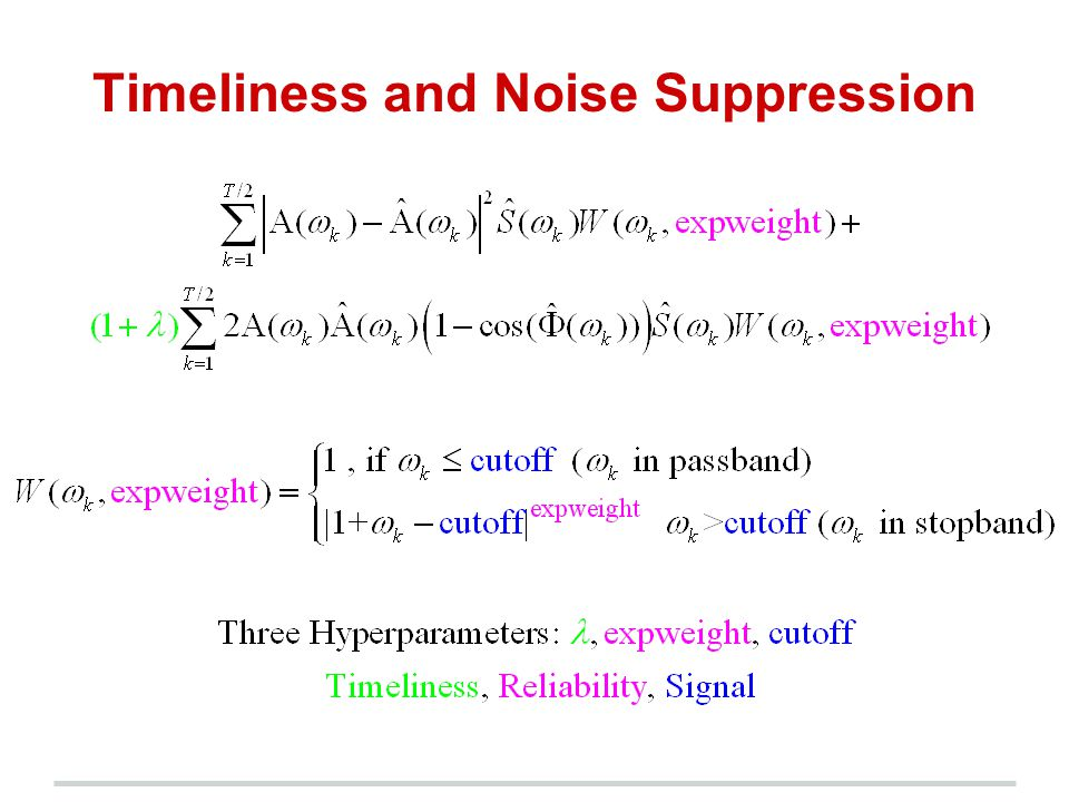 Timeliness and Noise Suppression