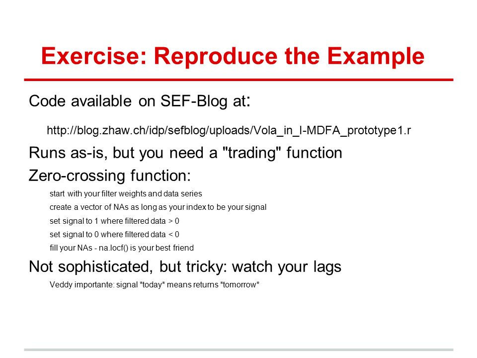 Exercise: Reproduce the Example