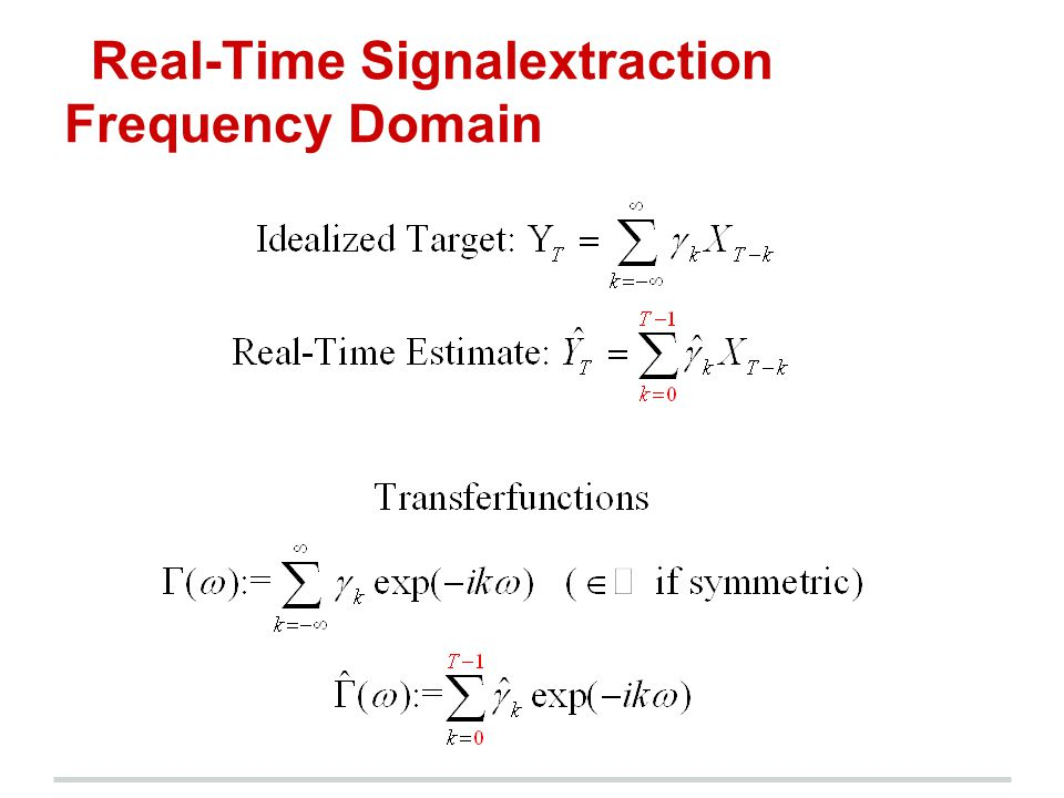 Real-Time Signalextraction Frequency Domain