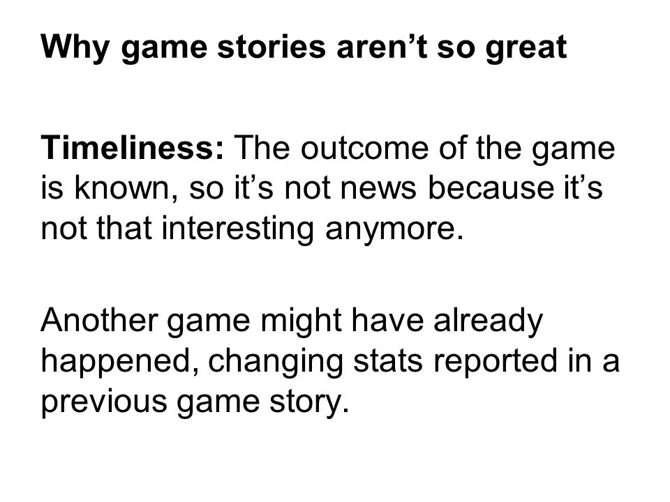 Why game stories aren't so great