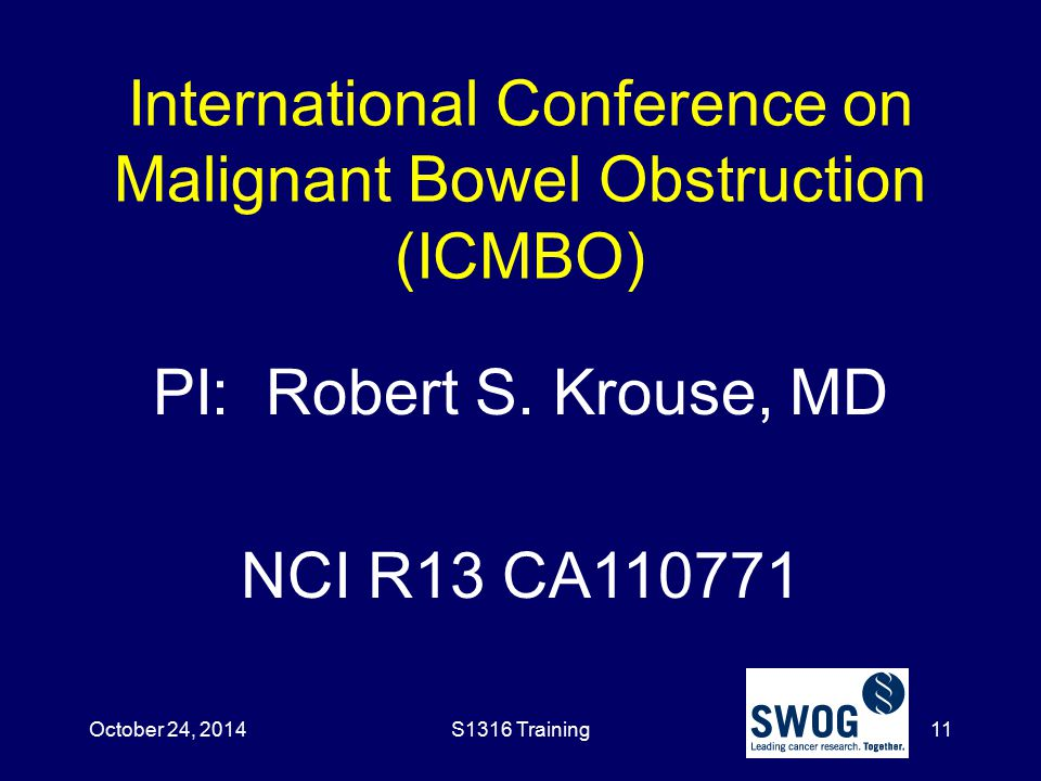 International Conference on Malignant Bowel Obstruction (ICMBO)