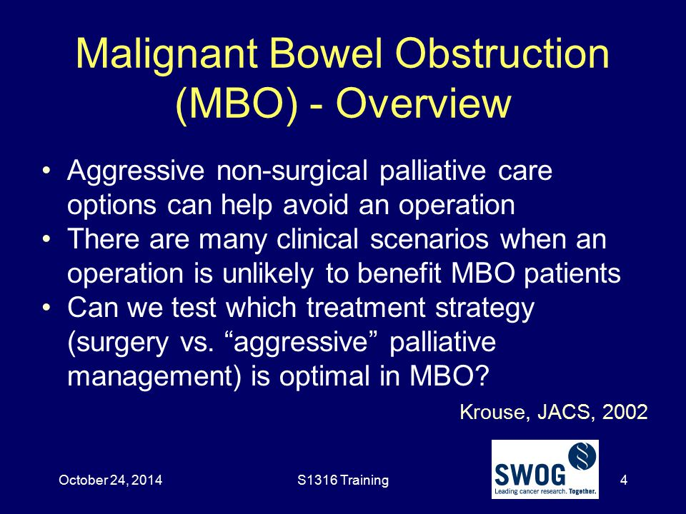Malignant Bowel Obstruction (MBO) - Overview