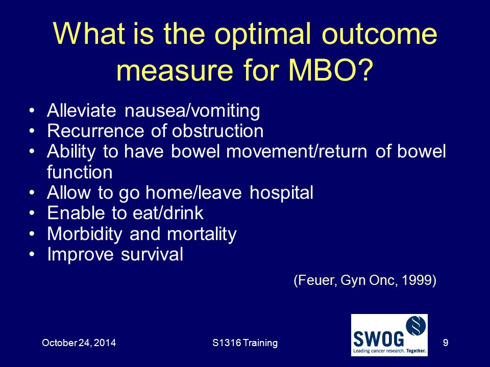 What is the optimal outcome measure for MBO