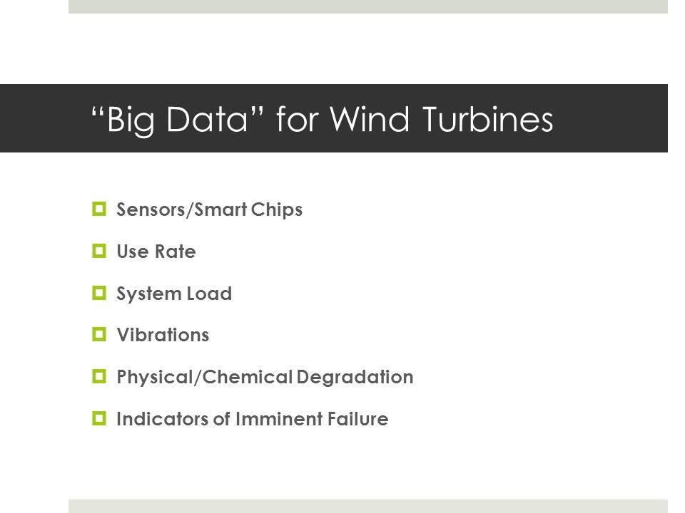 Big Data for Wind Turbines