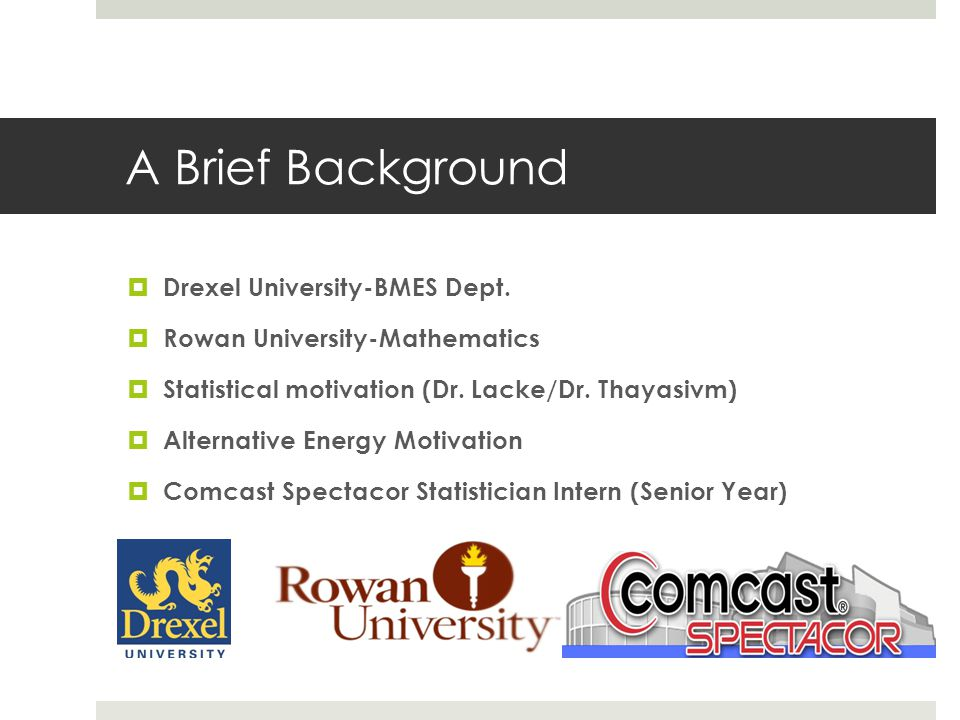 A Brief Background Drexel University-BMES Dept.