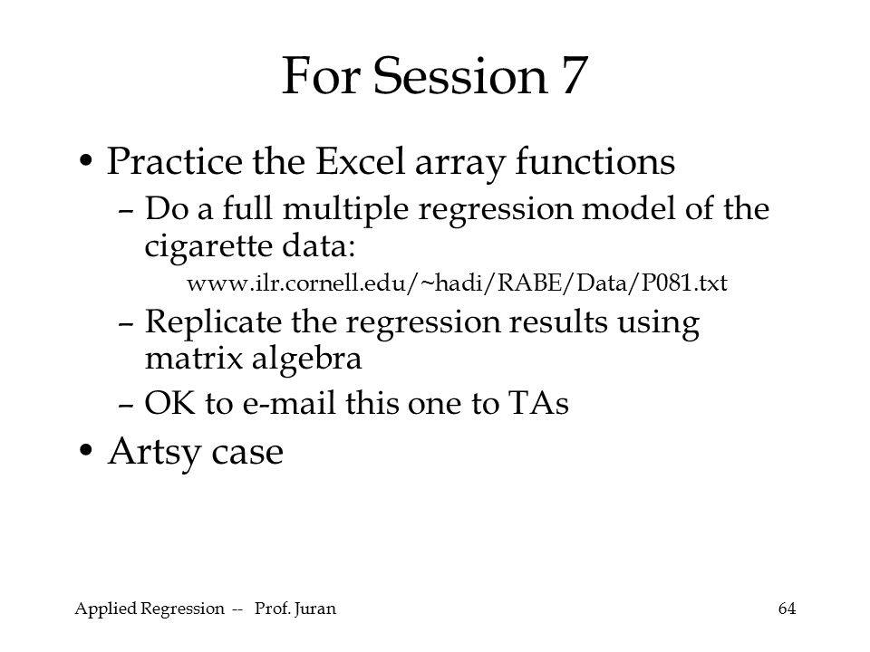 For Session 7 Practice the Excel array functions Artsy case