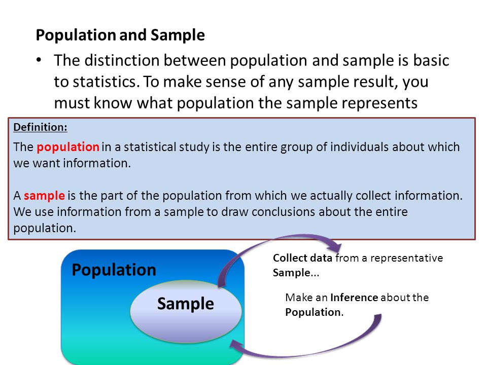 Population Sample Population and Sample