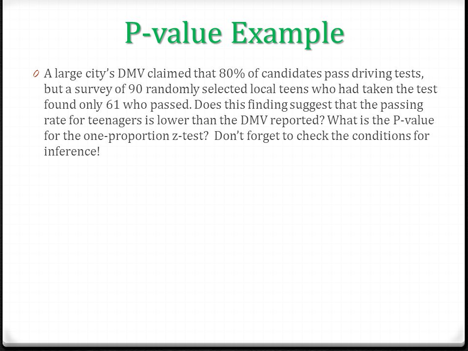 P-value Example
