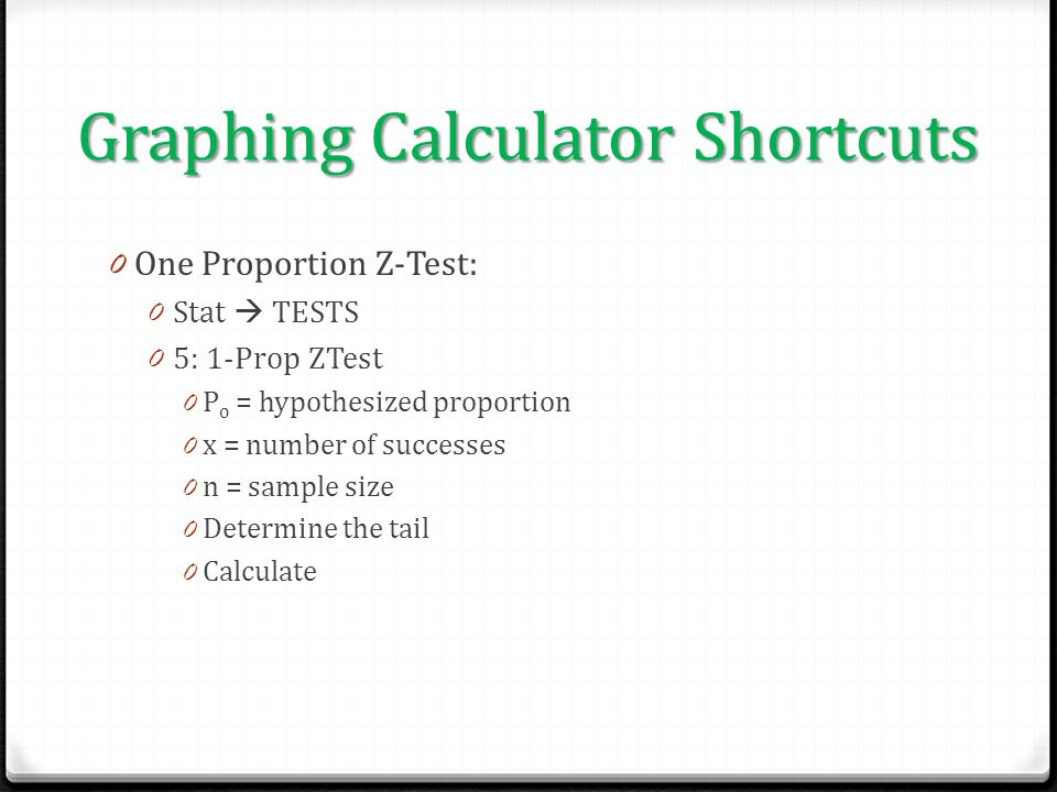 Graphing Calculator Shortcuts