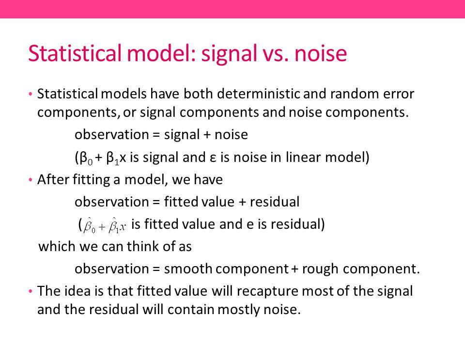 Statistical model: signal vs. noise