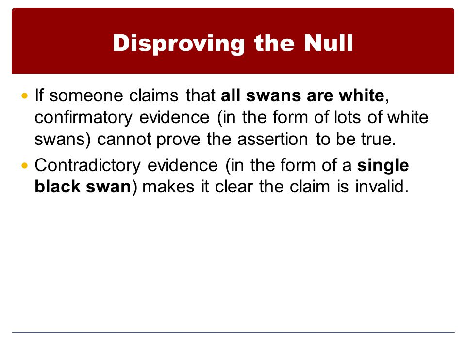 Disproving the Null