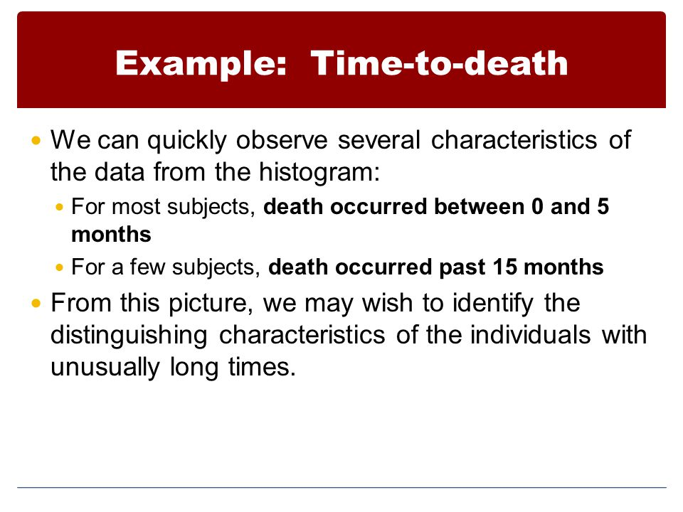 Example: Time-to-death