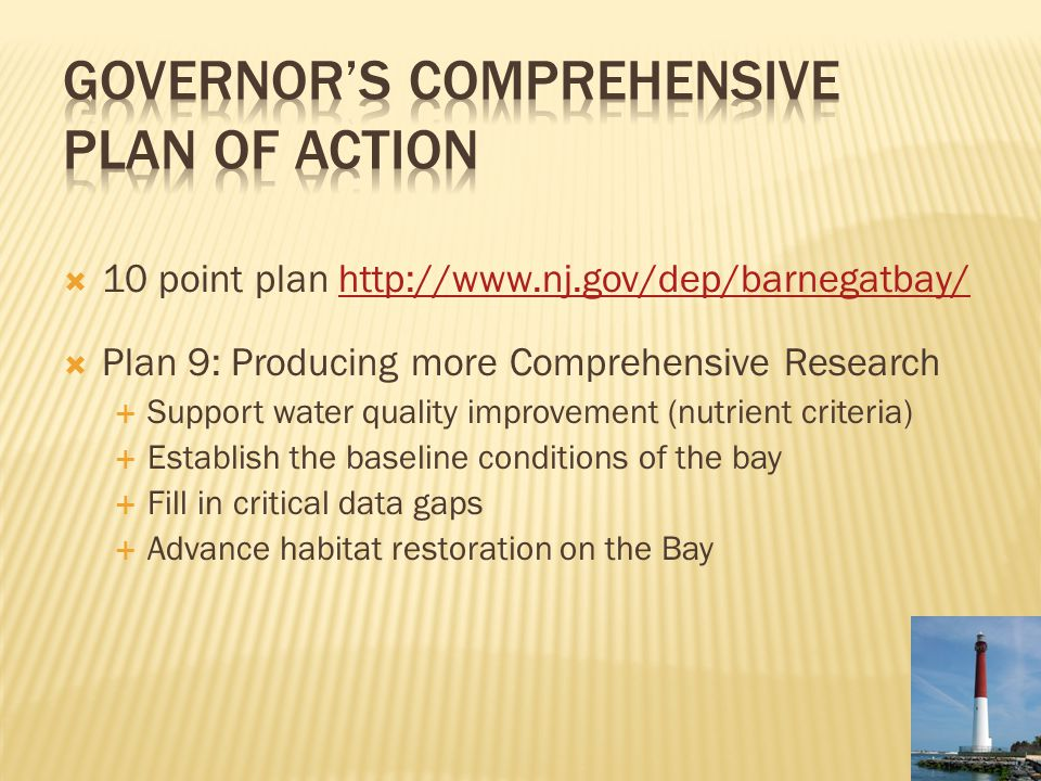 Governor's Comprehensive Plan of Action