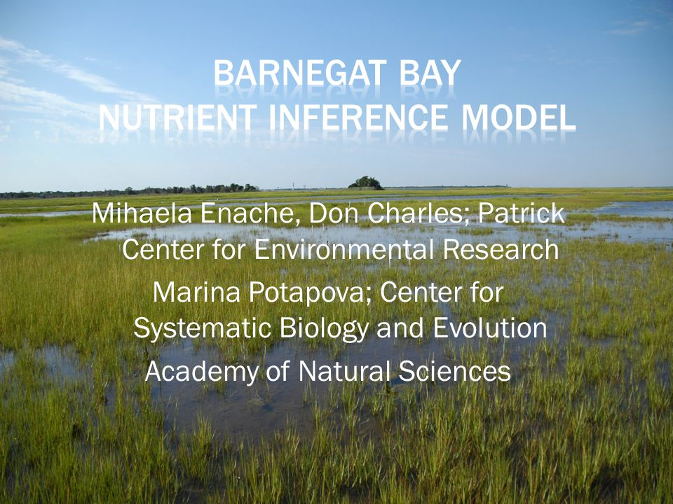 Barnegat Bay Nutrient Inference Model