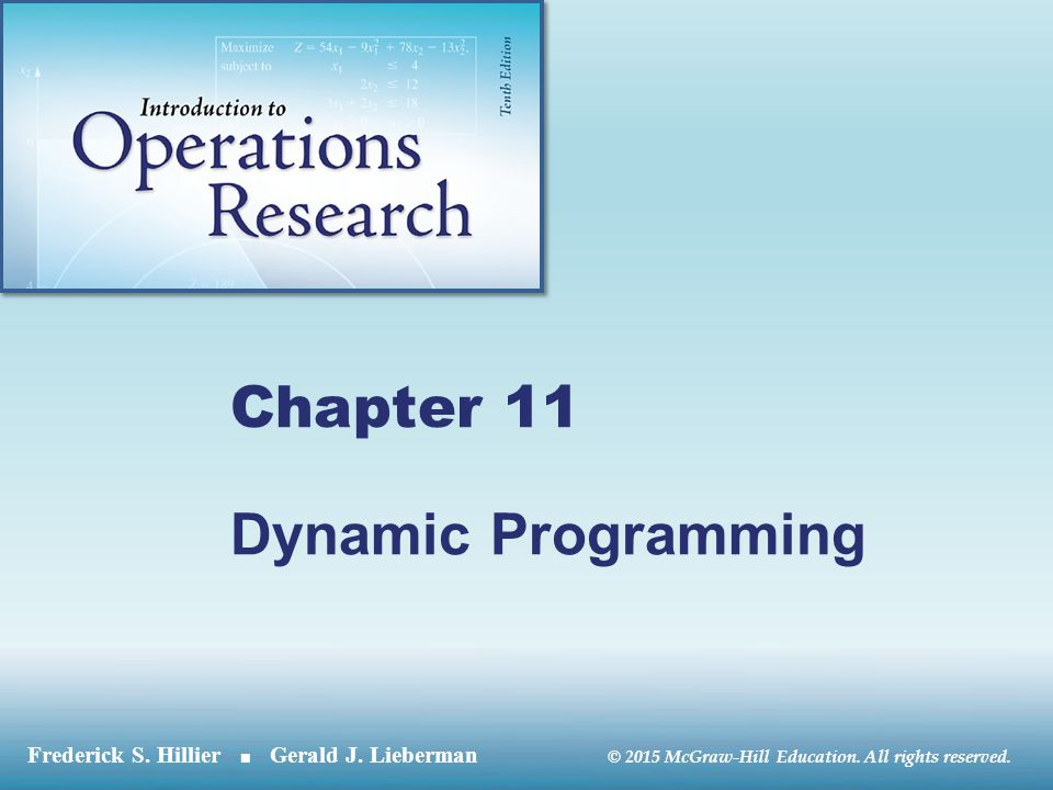 Chapter 11 Dynamic Programming