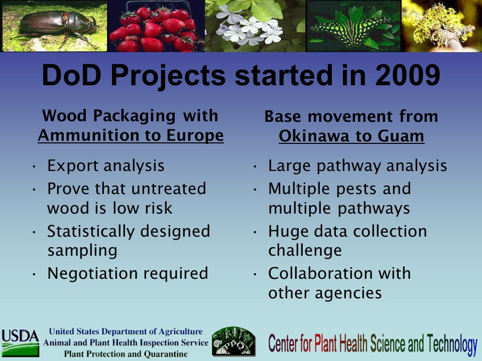 DoD Projects started in 2009