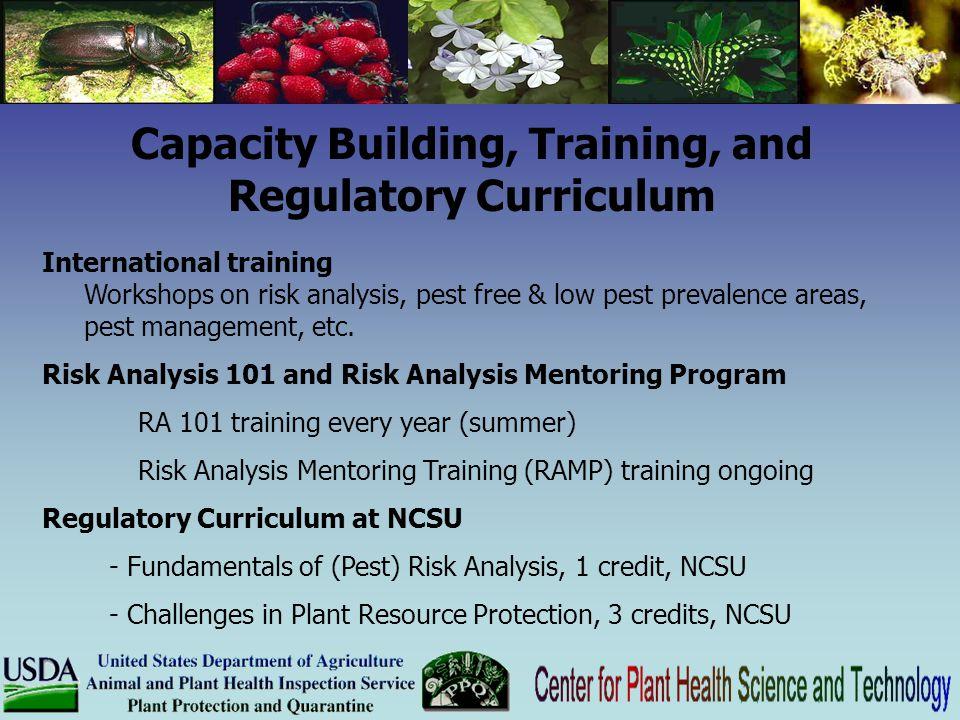 Capacity Building, Training, and Regulatory Curriculum