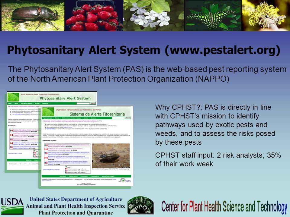 Phytosanitary Alert System (www.pestalert.org)