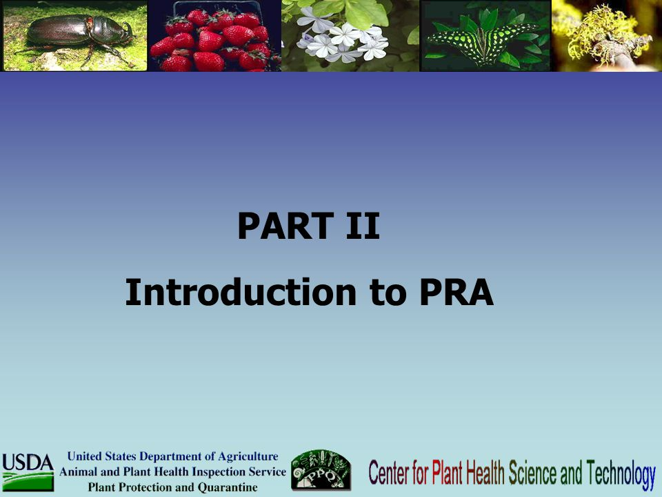 PART II Introduction to PRA