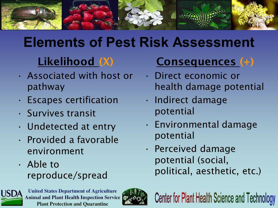 Elements of Pest Risk Assessment