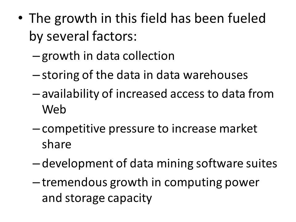 The growth in this field has been fueled by several factors: