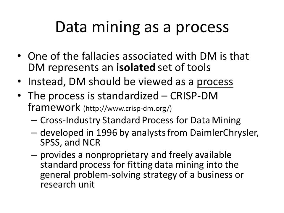 Data mining as a process