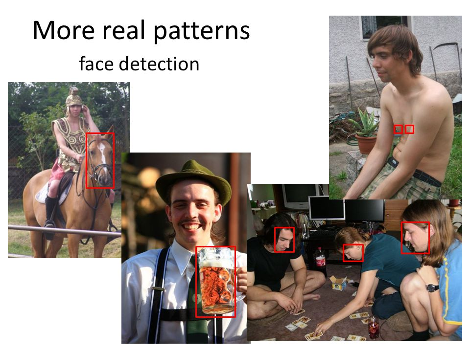 More real patterns face detection