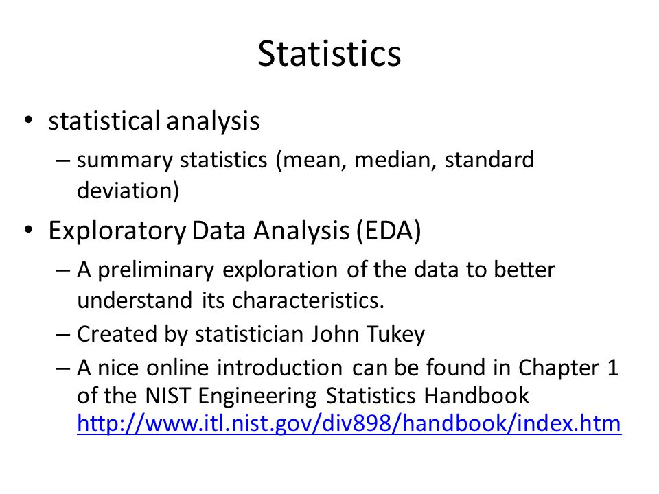 Statistics statistical analysis Exploratory Data Analysis (EDA)