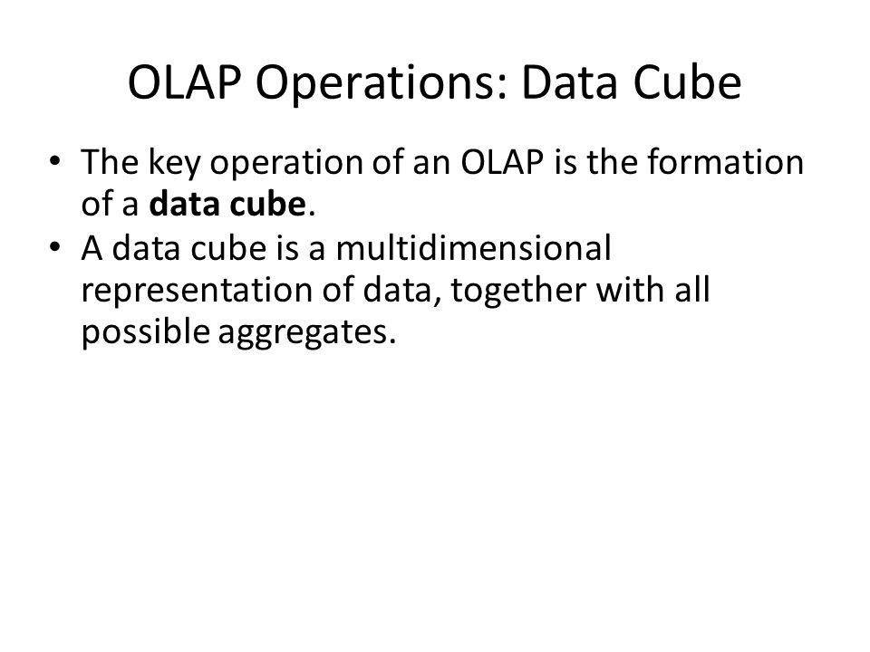 OLAP Operations: Data Cube