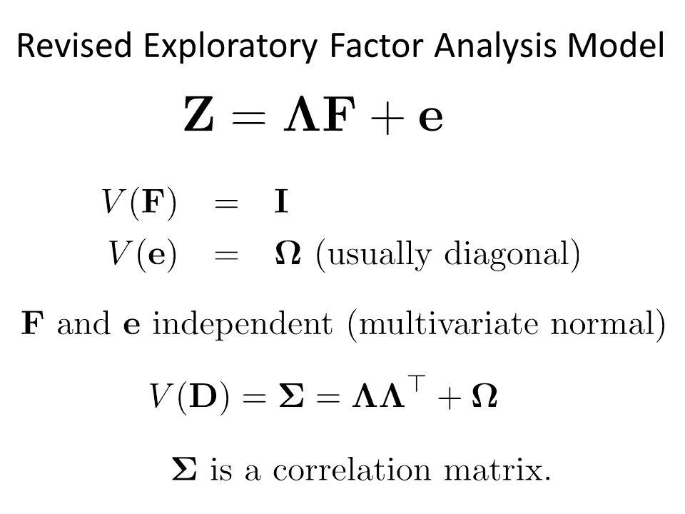 Revised Exploratory Factor Analysis Model