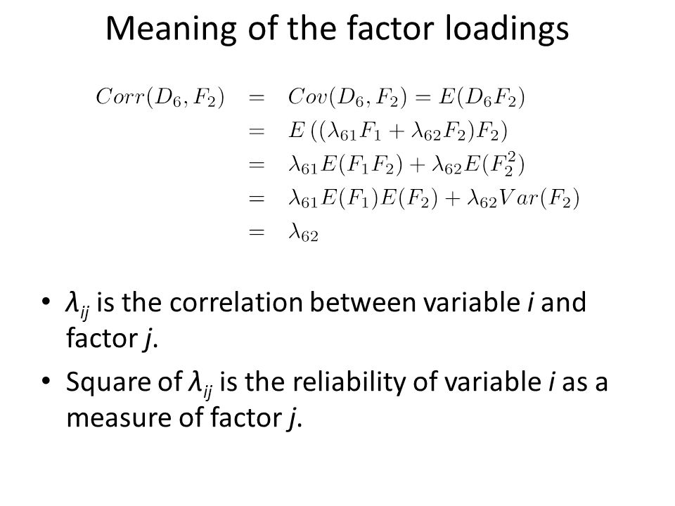 Meaning of the factor loadings