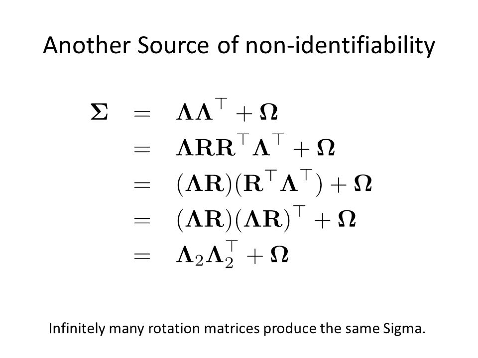 Another Source of non-identifiability