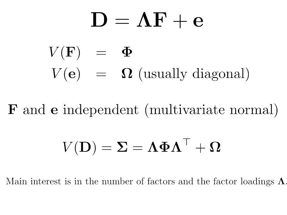 \mathbf{D} = \boldsymbol{\Lambda}\mathbf{F}+\mathbf{e} % 42