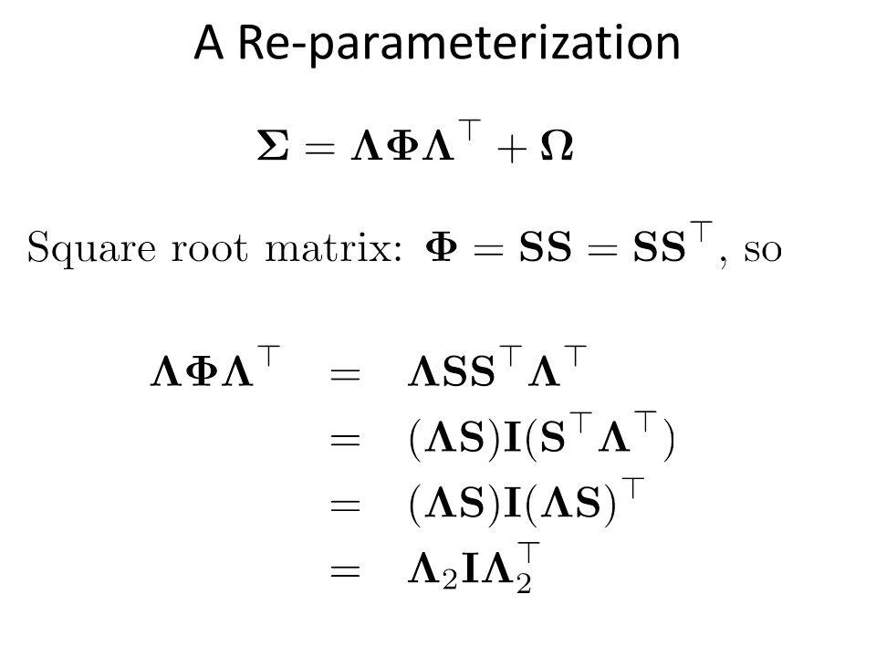A Re-parameterization