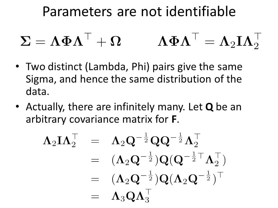 Parameters are not identifiable