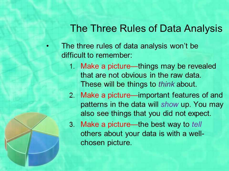 The Three Rules of Data Analysis