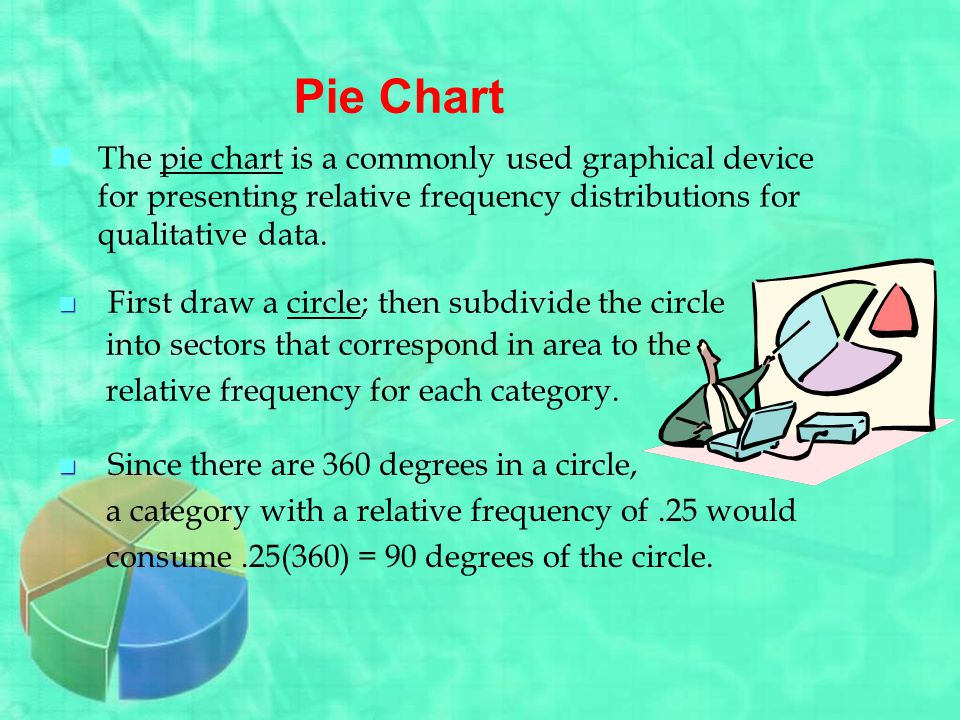 Pie Chart The pie chart is a commonly used graphical device