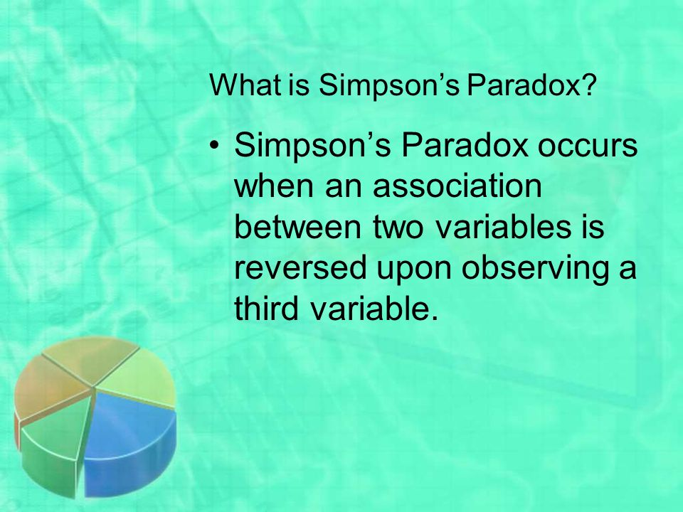 What is Simpson's Paradox