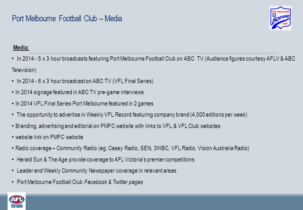 Victorian Football League – Telecast Numbers
