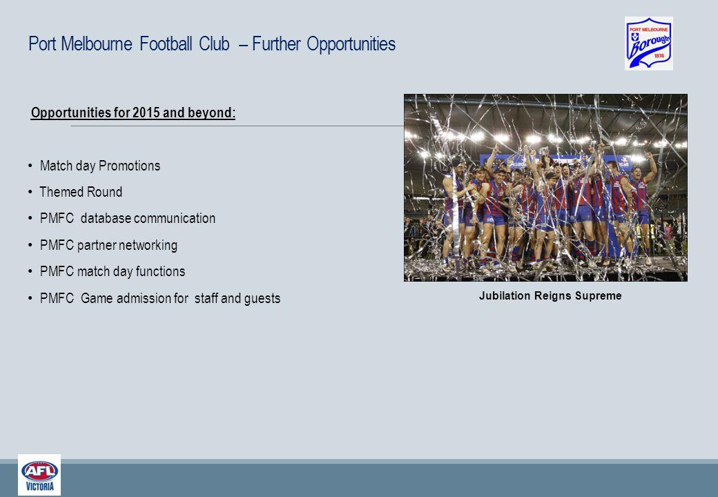 Current Port Melbourne FC Partnerships