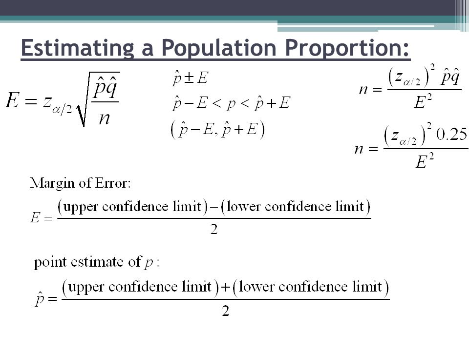 Estimating a Population Proportion: