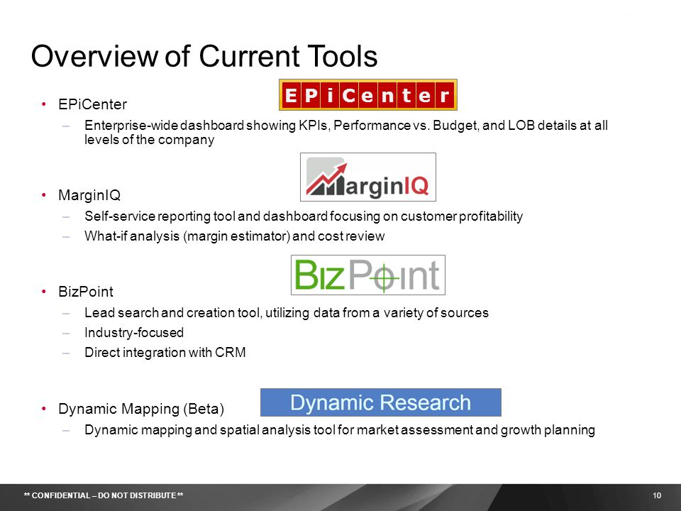 Overview of Current Tools